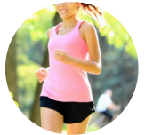 運動している女性のバナー