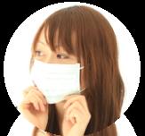 マスクをする女性のバナー