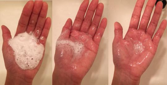 肌ナチュールの泡の経過