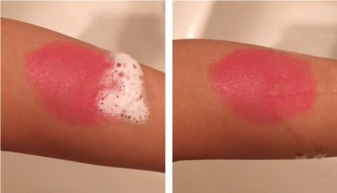 肌ナチュールの泡の変化
